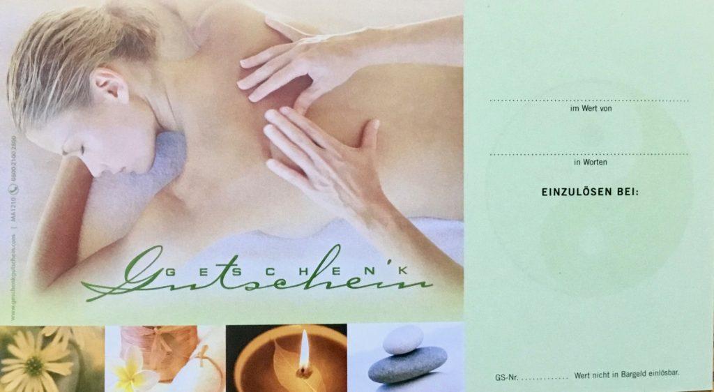 Gutschein für Massage